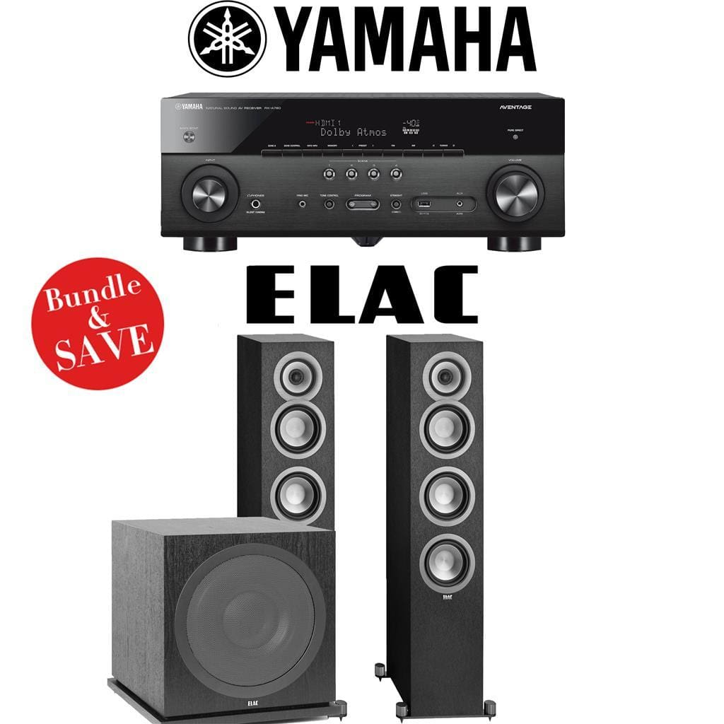 Yamaha RX-A780 AVENTAGE 7.2-Channel AV Receiver + Elac UF5 + Elac Sub3030-2.1-Ch Home Theater Package - Stereo Advantage