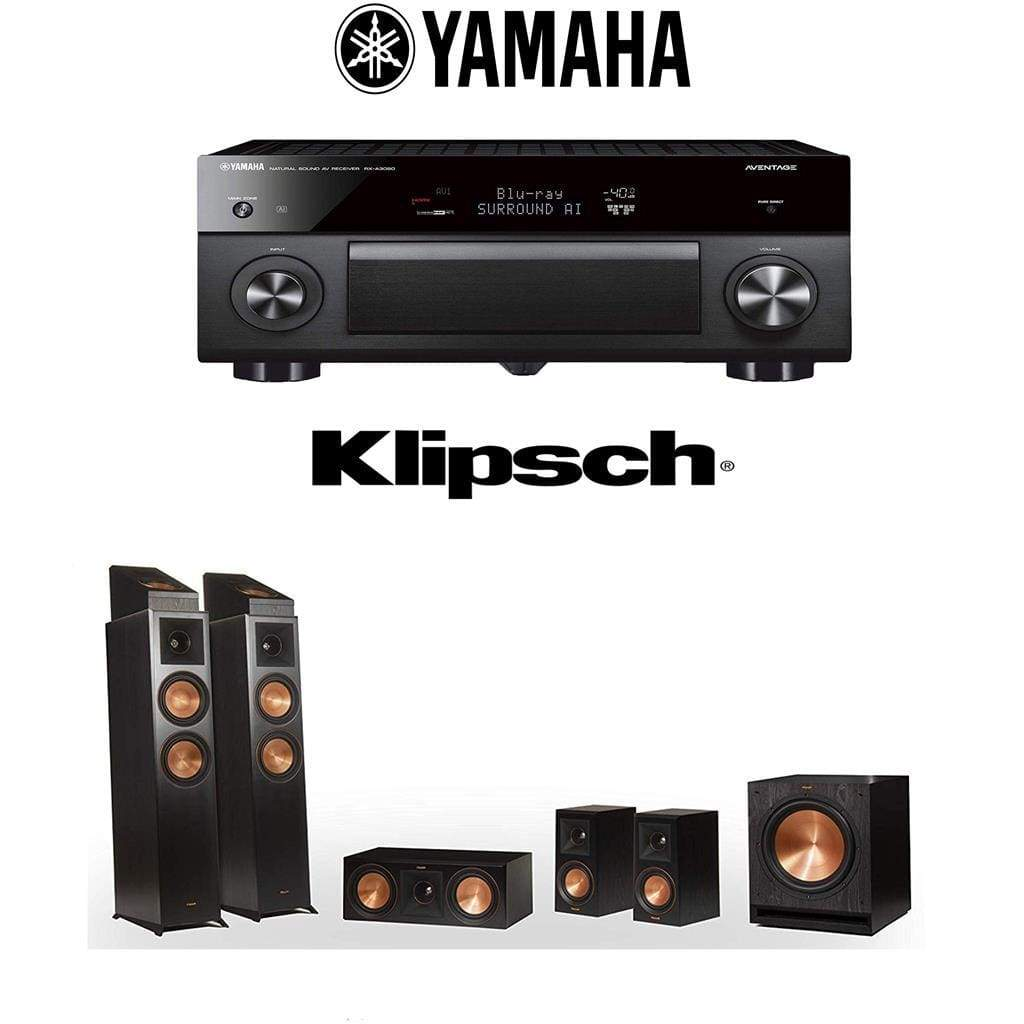 Klipsch Reference Premiere RP-6000F 5.1.2 Dolby Atmos Home Theater System with Yamaha AVENTAGE RX-A3080 9.2-Channel 4K Home Theater AV Re... - Stereo Advantage