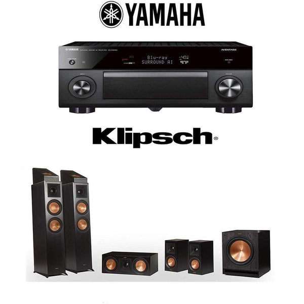 Klipsch Reference Premiere RP-6000F 5.1.2 Dolby Atmos Home Theater System with Yamaha AVENTAGE RX-A3080 9.2-Channel 4K Home Theater AV Re...