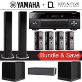 Definitive Technology BP9060 7.1-Ch High Performance Home Theater Speaker System with Yamaha AVENTAGE RX-A3080 9.2-Ch 4K Network A/V Rece... - Stereo Advantage