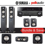 Polk Audio Signature S50 5.2-Ch Home Theater Speaker System with Yamaha RX-A780 AVENTAGE 7.2-Channel 4K Network A/V Receiver - Stereo Advantage