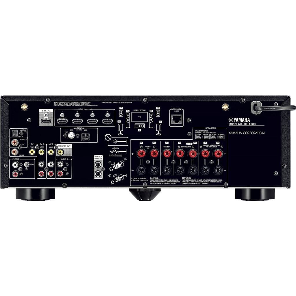 Yamaha RX-A680BL 7.2 Channel Network AV Receiver - Stereo Advantage