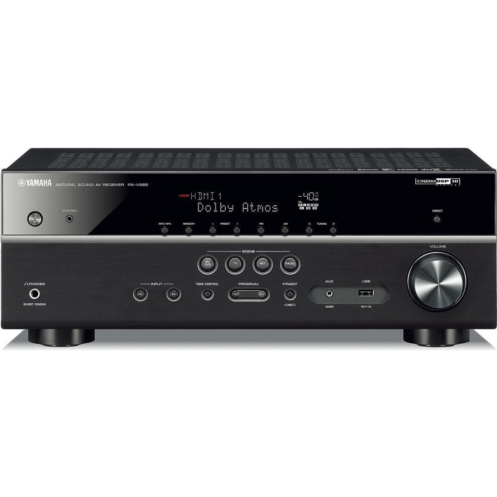 Yamaha RX-V585BL 7.2-Channel 4K Ultra HD AV Receiver with Wi-Fi Bluetooth and MusicCast Works with Alexa Black - Stereo Advantage