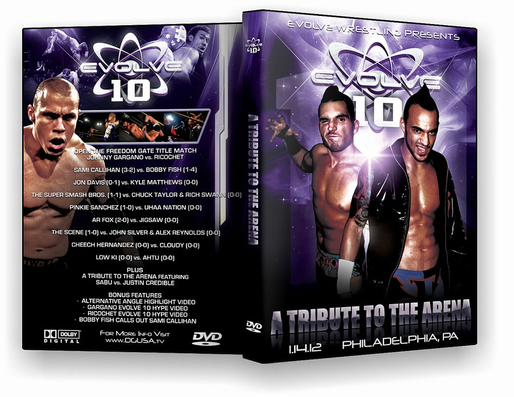 "Evolve Wrestling - Volume 10 ""A Tribute To The Arena"" Event DVD"
