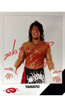 Signed Dragon Gate Yamato 8x10 Picture