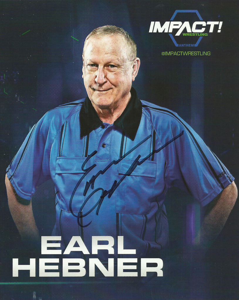 TNA / GFW Impact Wrestling Hand Signed Earl Hebner 8x10 Photo