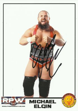 RPW - Michael Elgin Hand Signed 2016 A4 Photo