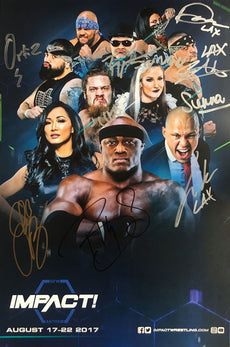 "TNA / GFW - Autographed IMPACT Wrestling August Promotional 11x17"" Bill Poster"
