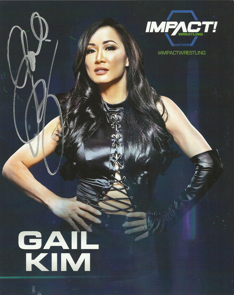 TNA / GFW Impact Wrestling Hand Signed Gail Kim 8x10 Photo