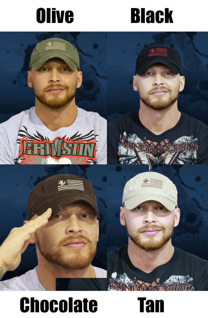 TNA - Crimson Military Hat