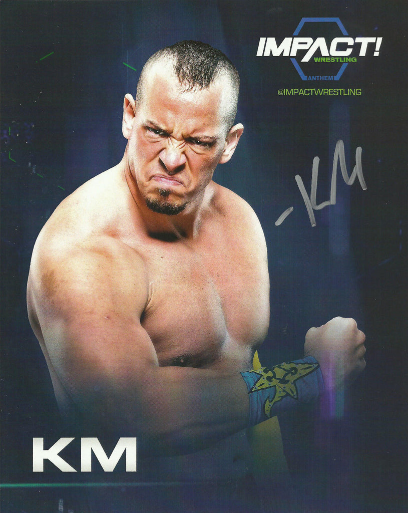 TNA / GFW Impact Wrestling Hand Signed KM 8x10 Photo