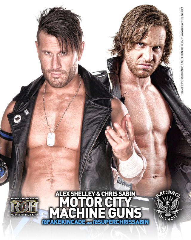 ROH - Motor City Machine Guns 2016 UK Tour 8x10