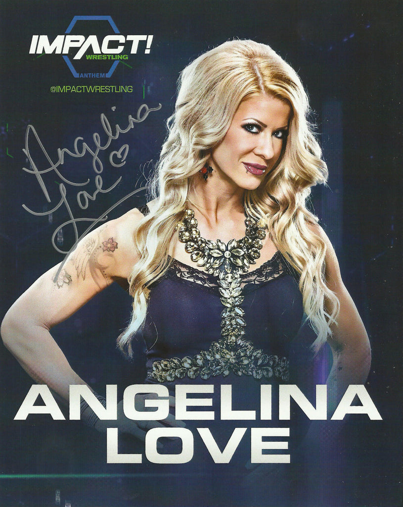 TNA / GFW Impact Wrestling Hand Signed Angelina Love 8x10 Photo