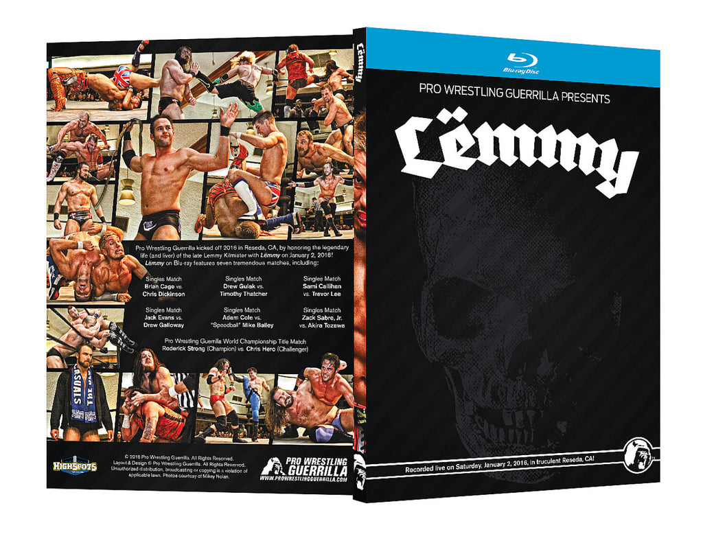 PWG - Lemmy 2016 Event Blu Ray  (Pre-Owned)