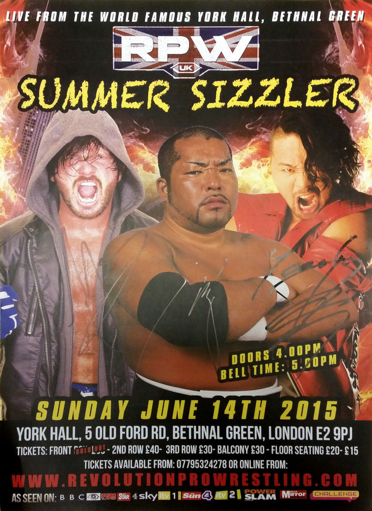 RPW - Summer Sizzler 2015 Hand Signed A3 Poster