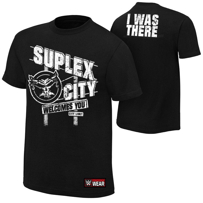 "WWE - Brock Lesnar ""Suplex City Welcomes You"" Authentic T-Shirt"