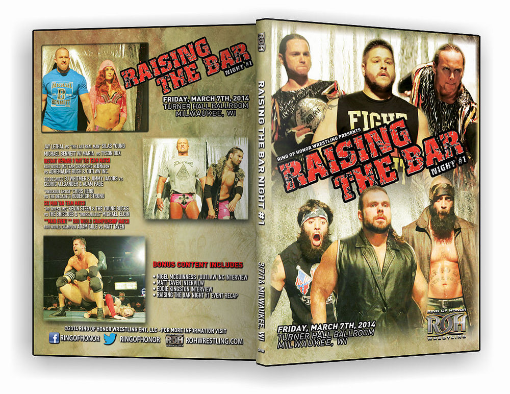 ROH - Raising The Bar 2014 Night One Event DVD