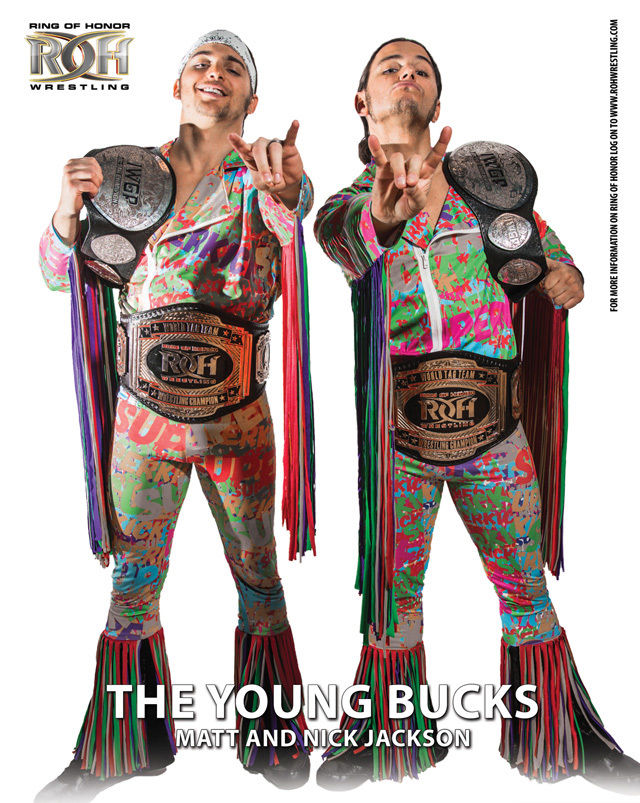 ROH - The Young Bucks 2016 UK Tour 8x10