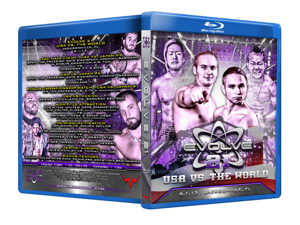 Evolve Wrestling - Volume 21 Event Blu Ray