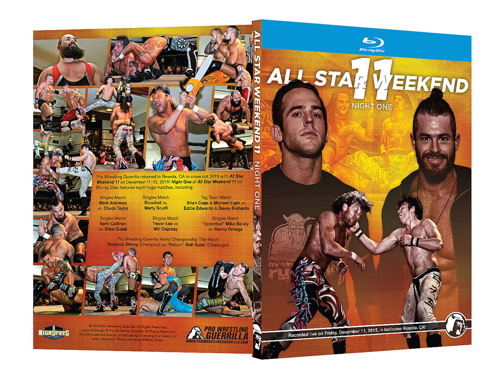 PWG - All Star Weekend XI Night 1 2015 Event Blu-Ray