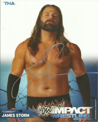 Signed Impact Wrestling - James Storm - 8x10 - P20 (B)
