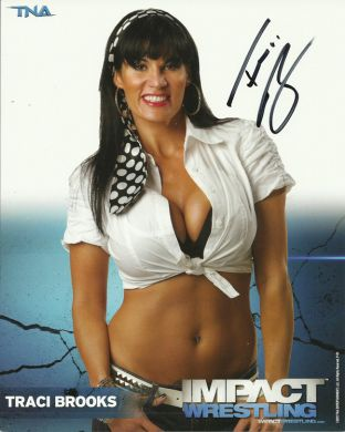 Signed Impact Wrestling - Traci Brooks - 8x10 - P81 (B)