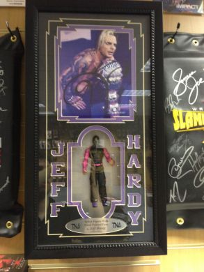 TNA - Jeff Hardy Hand Painted Figure in Plaque (Signed By Jeff Hardy)