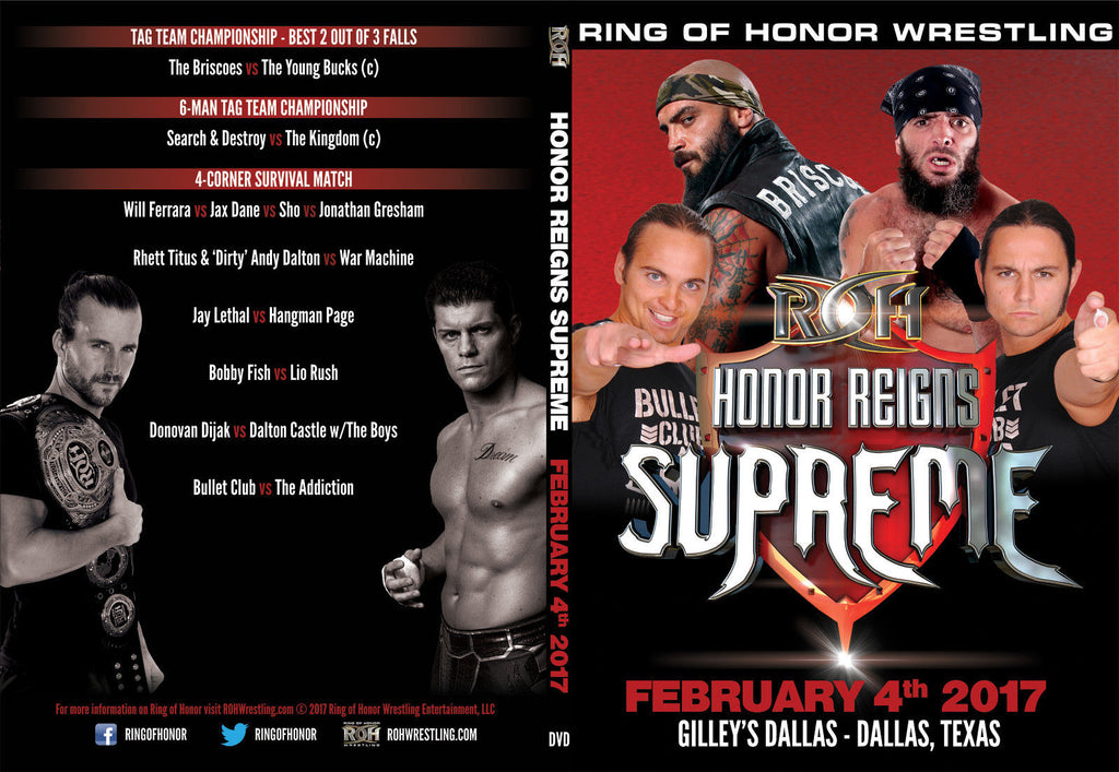 ROH - Honor Reigns Supreme 2017 Event DVD