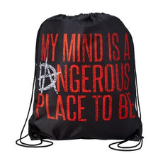 "WWE - Dean Ambrose ""My Mind is a Dangerous Place"" 18"" x 15"" Drawstring Bag"