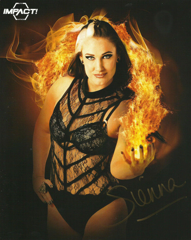 TNA / GFW Impact Wrestling Hand Signed Sienna Force of Nature Knockouts 8x10 Photo