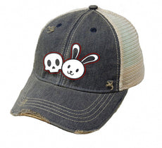 "Rosemary & Allie ""Demon Bunny"" Trucker Hat / Baseball Cap"
