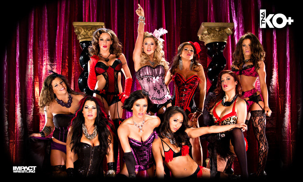 "TNA - Knockouts ""Moulin Rouge"" 3' x 5' Banner"