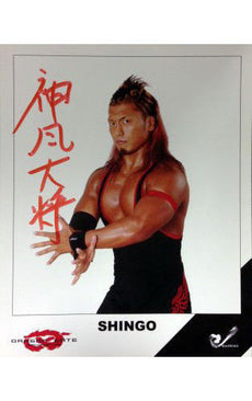Signed Dragon Gate Shingo 8x10 Picture