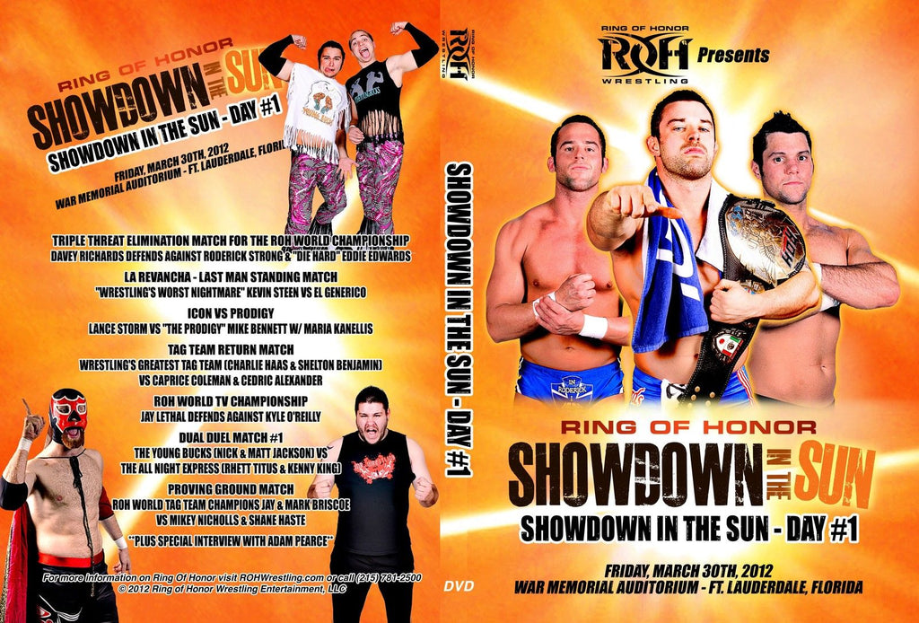 ROH - Showdown in the Sun : Day 1 2012 Event DVD