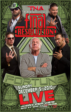 "TNA - Final Resolution 2010 38""x24"" PPV Poster"