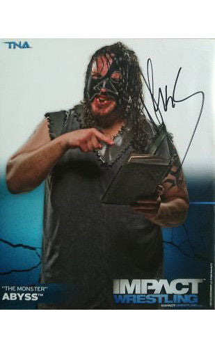 Signed Impact Wrestling - Abyss - 8x10 - P2