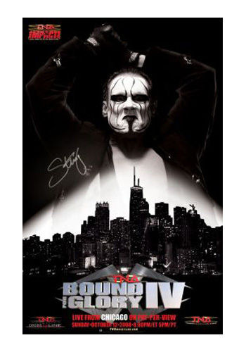 TNA - Bound for Glory 2008 PPV Poster Signed by Sting
