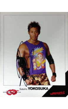 Signed Dragon Gate Susumu Yokosuka 8x10 Picture
