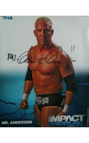 Signed Impact Wrestling - Mr Anderson - 8x10 - P26