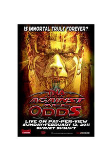 "TNA - Against All Odds 2011 38""x24"" PPV Poster"