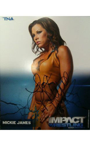 Signed Impact Wrestling - Mickie James - 8x10 - P36