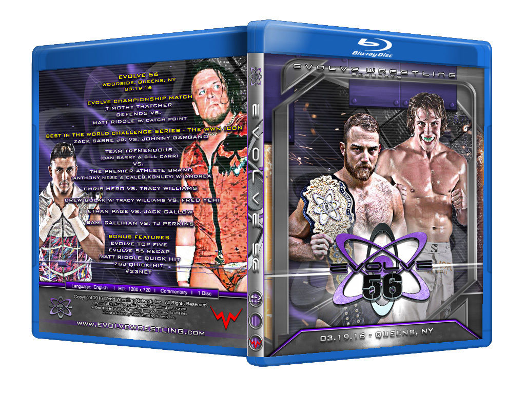 Evolve Wrestling - Volume 56 Event Blu Ray