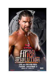 "TNA - Final Resolution 2011 38""x24"" PPV Poster"