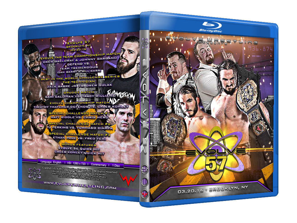 Evolve Wrestling - Volume 57 Event Blu Ray