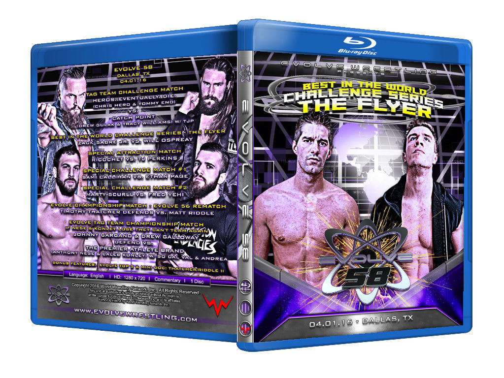 Evolve Wrestling - Volume 58 Event Blu Ray