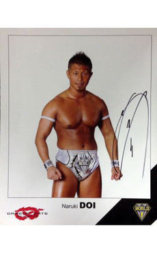 Signed Dragon Gate Naruki Doi 8x10 Picture