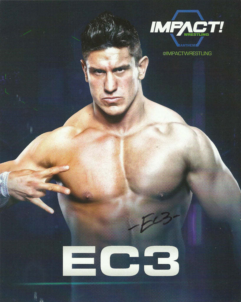 TNA / GFW Impact Wrestling Hand Signed EC3 8x10 Photo