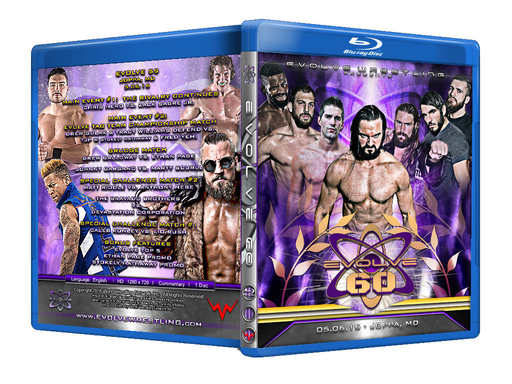 Evolve Wrestling - Volume 60 Event Blu Ray