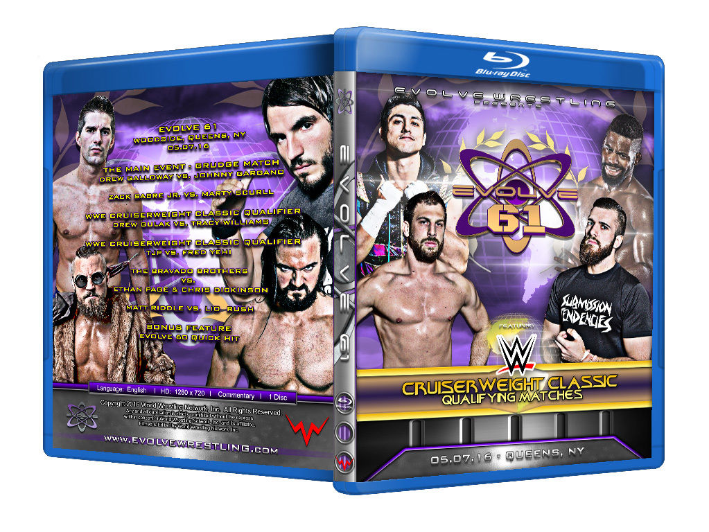 Evolve Wrestling - Volume 61 Event Blu Ray