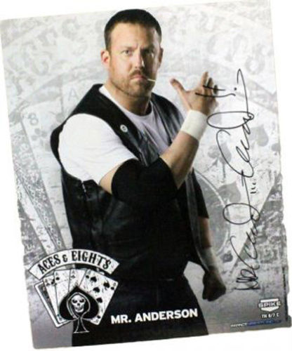 TNA - Aces & Eights Mr Anderson Signed 8x10